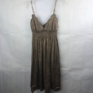 BCBGMaxAzria Dress Size Small Brown Silk Material